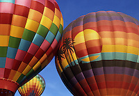 Hot Air Balloons over Palm Desert, California. Near Palm Springs and Indio California