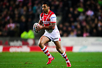 Picture by Alex Whitehead/SWpix.com - 16/03/2018 - Rugby League - Betfred Super League - St Helens v Leeds Rhinos - Totally Wicked Stadium, St Helens, England - St Helens' Zeb Taia.