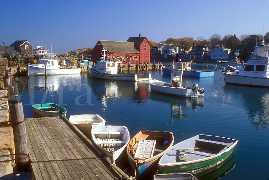 harbor, fishing boats, Rockport, MA, Massachusetts, Fishing boats docked in Rockport Harbor in Rockport in the fall.