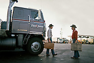 Texas, 1978. Switching drivers at the Truck Stop.