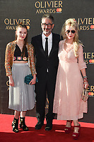 David Badiel &amp; wife Mowenna Banks &amp; daughter Dolly Loveday Baddiel at The Olivier Awards 2017 at the Royal Albert Hall, London, UK. <br /> 09 April  2017<br /> Picture: Steve Vas/Featureflash/SilverHub 0208 004 5359 sales@silverhubmedia.com