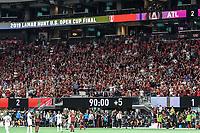 ATLANTA, Georgia - August 27: fans during the 2019 U.S. Open Cup Final between Atlanta United and Minnesota United at Mercedes-Benz Stadium on August 27, 2019 in Atlanta, Georgia.