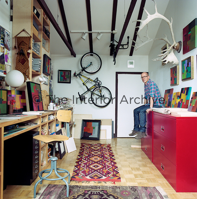 Steven Johanknecht in the studio of his LA home