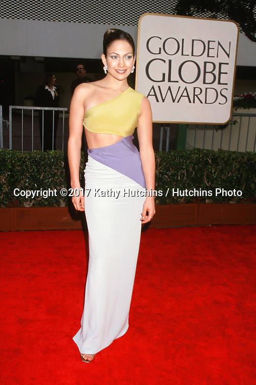 LOS ANGELES - JAN 18:  Jennifer Lopez at the 55th Annual Golden Globe Awards at the Beverly Hilton Hotel on JANUARY 18, 1998 in Beverly Hills, CA