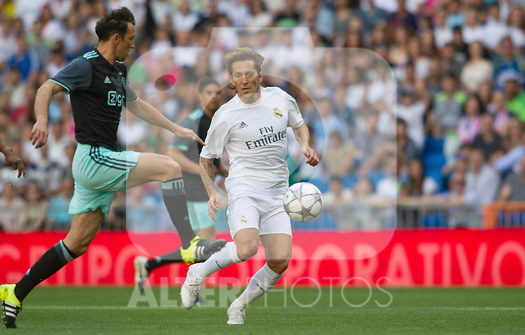 Michel Salgado during the Corazon Classic Match 2016 at Estadio Santiago Bernabeu between Real Madrid Legends and Ajax Legends. Jun 5,2016. (ALTERPHOTOS/Rodrigo Jimenez)
