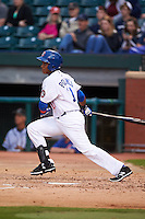 Chattanooga Lookouts shortstop Jorge Polanco (11) at bat during a game against the Jacksonville Suns on April 30, 2015 at AT&T Field in Chattanooga, Tennessee.  Jacksonville defeated Chattanooga 6-4.  (Mike Janes/Four Seam Images)