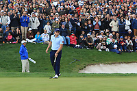 Paul Dunne (IRL) on the 18th green during Round 4 of the Open de Espana 2018 at Centro Nacional de Golf on Sunday 15th April 2018.<br /> Picture:  Thos Caffrey / www.golffile.ie<br /> <br /> All photo usage must carry mandatory copyright credit (&copy; Golffile | Thos Caffrey)