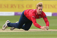 Simon Harmer of Essex makes a diving stop during Essex Eagles vs Notts Outlaws, Royal London One-Day Cup Semi-Final Cricket at The Cloudfm County Ground on 16th June 2017