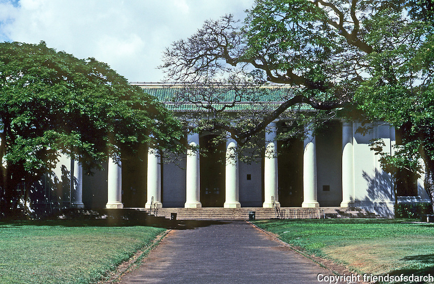 Honolulu: Hawaii State Library, designed by Henry D. Whitfield (Andrew Carnegie's brother-in-law), 1913. Photo '82.