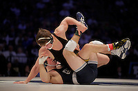 STATE COLLEGE, PA - FEBRUARY 8: Michael Kelly of the Iowa Hawkeyes and Luke Frey of the Penn State Nittany Lions during their match on February 8, 2015 at the Bryce Jordan Center on the campus of Penn State University in State College, Pennsylvania. The Hawkeyes won 18-12. (Photo by Hunter Martin/Getty Images) *** Local Caption *** Michael Kelly;Luke Frey