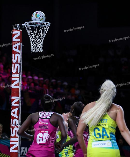 29/10/17 Fast5 2017<br /> Fast 5 Netball World Series<br /> Hisense Arena Melbourne<br /> Australia v South Africa <br /> <br /> <br /> <br /> <br /> <br /> <br /> Photo: Grant Treeby