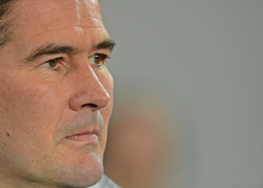 Derby's Manager Nigel Clough ..Football - npower Football League Championship - Cardiff City v Derby County - Tuesday 05th March 2013 - Cardiff City Stadium - Cardiff..© CameraSport - 43 Linden Ave. Countesthorpe. Leicester. England. LE8 5PG - Tel: +44 (0) 116 277 4147 - admin@camerasport.com - www.camerasport.com