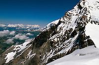 Jungfrau und Jungfrau-Firn, Unesco-Weltkulturerbe, Berner Oberland, Schweiz, World Heritage, Welterbe