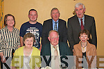 7608-7611.---------.Retirement.----------.Paddy O Connor(seated centre)from Currow celebrated his retirement from the Health Service Executive(HSE)Pembroke St Tralee after 36yrs in Stokers Lodge bar/restaurant Clounaour Tralee last Friday night,also seated was his wife mary(left)and Annett Cremin(back)L-R Marie Dennehy,Ger O Connor,John Deenihan and Tom Leonard..   Copyright Kerry's Eye 2008