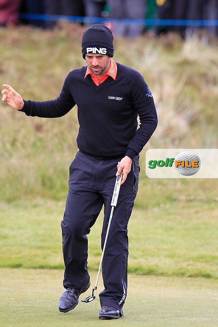 John PARRY (ENG) putts onto the 18th green during Saturday's Round 3 of the 2015 Dubai Duty Free Irish Open, Royal County Down Golf Club, Newcastle Co Down, Northern Ireland 5/30/2015<br /> Picture Eoin Clarke, www.golffile.ie