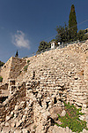 Jerusalem, Israel, the City of David, the Canaanite wall at area G<br />