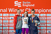 Picture by Allan McKenzie/SWpix.com - 15/12/2017 - Swimming - Swim England Winter Championships - Ponds Forge International Sports Centre, Sheffield, England - Kierra Smith, Charlotte Rigg & Molly Renshaw with golds in the womens open 200m breaststroke.