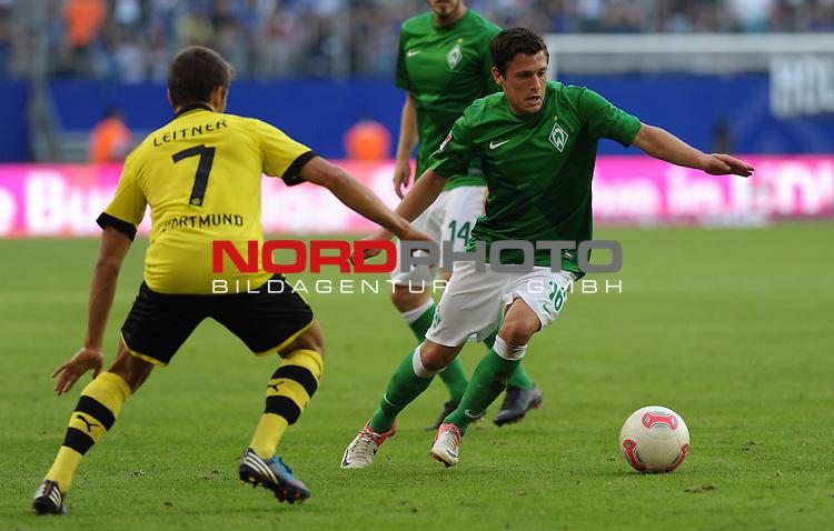 05.08.2012, Imtech Arena, Hamburg, GER, LIGA total! Cup 2012, Borussia Dortmund vs Werder Bremen, im Bild Moritz Leitner (Dortmund #7), Zlatko Junuzovic (Bremen #16)<br /> <br /> // during the match Borussia Dortmund vs Werder Bremen on 2012/08/05, Imtech Arena, Hamburg, Germany.<br /> Foto &copy; nph / Frisch<br />  Foto &copy; nph / Mathis