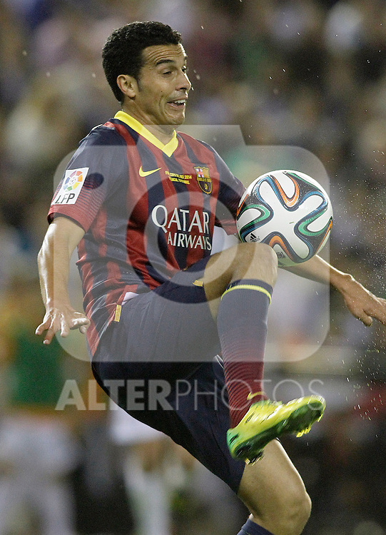 FC Barcelona's Pedro Rodriguez during spanish KIng's Cup Final match.April 16,2014. (ALTERPHOTOS/Acero)
