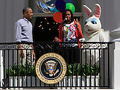 United States President Barack Obama and First Lady Michelle Obama participate in the White House Easter Egg Roll on the South Lawn on April 6, 2015.<br /> Credit: Dennis Brack / Pool via CNP