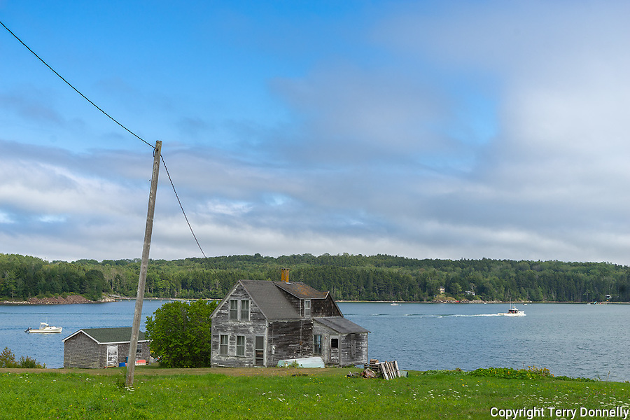 Central Coast, Maine:<br /> Weathered house on the Maine coast