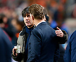Nederland, Amsterdam, 14 november 2012 .Seizoen 2012-2013.Oefeninterland.Nederland-Duitsland .Louis van Gaal (r.), trainer-coach van Nederland en Joachim Low (l.), trainer-coach van Duitsland.
