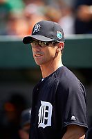 Detroit Tigers manager Brad Ausmus (7) before an exhibition game against the Florida Southern Moccasins on February 29, 2016 at Joker Marchant Stadium in Lakeland, Florida.  Detroit defeated Florida Southern 7-2.  (Mike Janes/Four Seam Images)