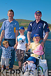 Fathers in charge Sean MacGearal with Cian and   Naoise ,  Donnocha O? Tuama with Donnagh and MacDarra at the Ventry regatta on Sunday