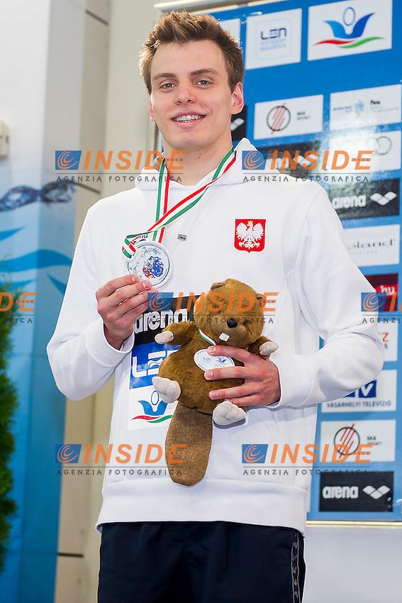 Skierka Jakub POL<br /> 200 Backstroke Men Final Silver Medal<br /> LEN 43rd Arena European Junior Swimming Championships<br /> Hodmezovasarhely, Hungary <br /> Day04 09-07-2016<br /> Photo Andrea Masini/Deepbluemedia/Insidefoto