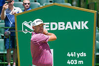 Lee Westwood (ENG) on the 1st tee on the 1st tee during the first round at the Nedbank Golf Challenge hosted by Gary Player,  Gary Player country Club, Sun City, Rustenburg, South Africa. 14/11/2019 <br /> Picture: Golffile | Tyrone Winfield<br /> <br /> <br /> All photo usage must carry mandatory copyright credit (© Golffile | Tyrone Winfield)