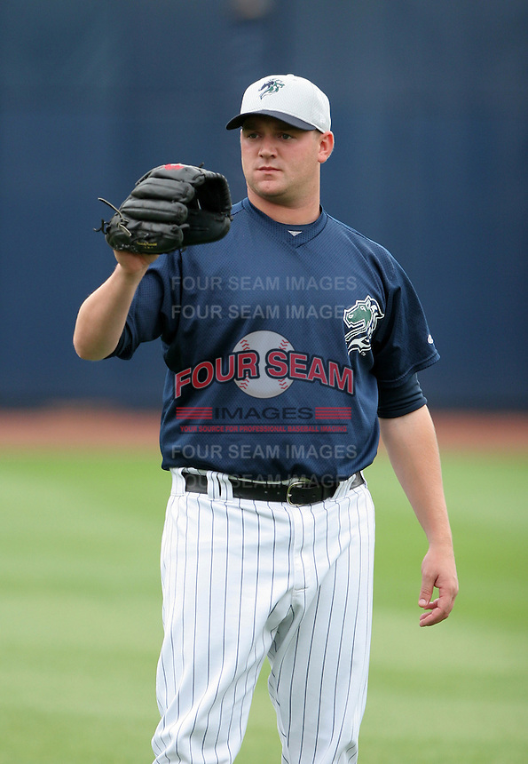 Charlotte Knights pitcher Heath Phillips during warmups before the Triple-A All-Star Game at Fifth Third Field on July 12, 2006 in Toledo, Ohio.  (Mike Janes/Four Seam Images)