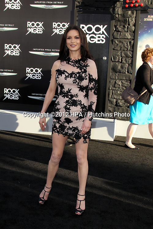 """LOS ANGELES - JUN 8:  Catherine Zeta-Jones arriving at """"Rock of Ages"""" World Premiere at Graumans Chinese Theater on June 8, 2012 in Los Angeles, CA"""