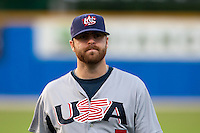 25 September 2009: Tug Hulett of Team USA is seen prior to the 2009 Baseball World Cup final round match won 8-2 by Team USA over Netherlands, in Nettuno, Italy.