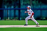 21 February 2019: Washington Nationals outfielder Chuck Taylor runs bases during a Spring Training workout at the Ballpark of the Palm Beaches in West Palm Beach, Florida. Mandatory Credit: Ed Wolfstein Photo *** RAW (NEF) Image File Available ***