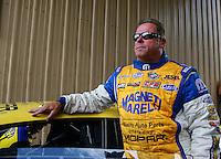 Jul. 20, 2014; Morrison, CO, USA; NHRA pro stock driver Allen Johnson during the Mile High Nationals at Bandimere Speedway. Mandatory Credit: Mark J. Rebilas-