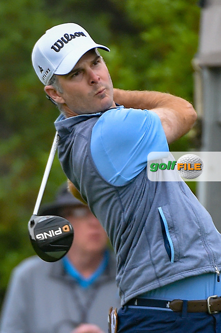 Kevin Streelman (USA) watches his tee shot on 1 during day 3 of the Valero Texas Open, at the TPC San Antonio Oaks Course, San Antonio, Texas, USA. 4/6/2019.<br /> Picture: Golffile | Ken Murray<br /> <br /> <br /> All photo usage must carry mandatory copyright credit (© Golffile | Ken Murray)