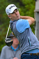 Kevin Streelman (USA) watches his tee shot on 1 during day 3 of the Valero Texas Open, at the TPC San Antonio Oaks Course, San Antonio, Texas, USA. 4/6/2019.<br /> Picture: Golffile | Ken Murray<br /> <br /> <br /> All photo usage must carry mandatory copyright credit (&copy; Golffile | Ken Murray)