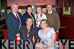 9769-9773.---------.Diamond Ring.------------.Kieran Moynihan and Marilyn O Sullivan(seated)both from Lee Drive Ballinorig Tralee celebrated their engagement in Gallys bar/restaurant Castlemaine Rd Tralee last Saturday evening with the company of both their parents standing L-R Jack&Marie O Sullivan(Derrymore)and Mary&John Moynihan Killerisk.