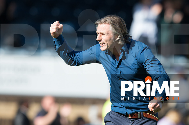 Gareth Ainsworth Manager of Wycombe Wanderers at full time during the Sky Bet League 2 match between Wycombe Wanderers and Doncaster Rovers at Adams Park, High Wycombe, England on 22 April 2017. Photo by James Williamson / PRiME Media Images.