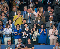 Family of the former owner of Leicester City Vichai Srivaddhanaprabha who tragically passed away during the Premier League match between Leicester City and Wolverhampton Wanderers at the King Power Stadium, Leicester, England on 10 August 2019. Photo by Andy Rowland.