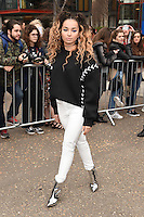 Ella Eyre<br /> arrives for the Topshop Unique AW17 show as part of London Fashion Week AW17 at Tate Modern, London.<br /> <br /> <br /> &copy;Ash Knotek  D3232  19/02/2017