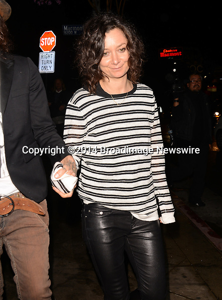 Pictured: Sara Gilbert<br /> Mandatory Credit: Luiz Martinez / Broadimage<br /> Annie Leibovitz Book Launch - Outside Arrivals<br /> <br /> 2/26/14, West Hollywood, California, United States of America<br /> Reference: 022614_LMLA_BDG_103<br /> <br /> sales@broadimage.com<br /> Bus: (310) 301-1027<br /> Fax: (646) 827-9134<br /> http://www.broadimage.com