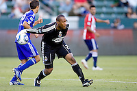 Chivas USA goalkeeper Zach Thornton heaves a ball down field. The Kansas City Wizards defeated CD Chivas USA 2-0 at Home Depot Center stadium in Carson, California on Sunday September 19, 2010.