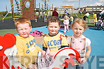 YELLOW DAY: Children from the Tir na nOg Childcare Centre in Ballybunion at a balloon ceremony to remember Madeline McCann in Ballybunion on Friday last..L/r. Matthew Doherty (Ballybunion), Liam Keane (Ballylongford) and Eabha Bryant (Ballybunion).   Copyright Kerry's Eye 2008