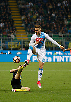 Piotr Zielinski  during the  italian serie a soccer match,between Inter FC  and SSC Napoli      at  the San Siro   stadium in Milan  Italy , April  30, 2017