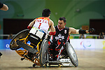 Canada plays China in wheelchair rugby action at the Paralympic Games in Beijing, Saturday, Sept., 13, 2008. THE CANADIAN PRESS  CPC/Mike Ridewood