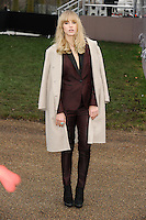 Suki Waterhouse arrives for the Burberry Prosum menswear AW14 as part of London Collections Men, Kensington Gardens, London.08/01/2014 Picture by: Steve Vas / Featureflash