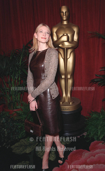 "08MAR99:  ""Elizabeth"" star CATE BLANCHETT at luncheon in Beverly Hills for this year's Academy Award nominees. .© Paul Smith / Featureflash"