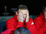 Wayne Rooney of Manchester United starts on the bench during the UEFA Europa League Final match at the Friends Arena, Stockholm. Picture date: May 24th, 2017.Picture credit should read: Matt McNulty/Sportimage