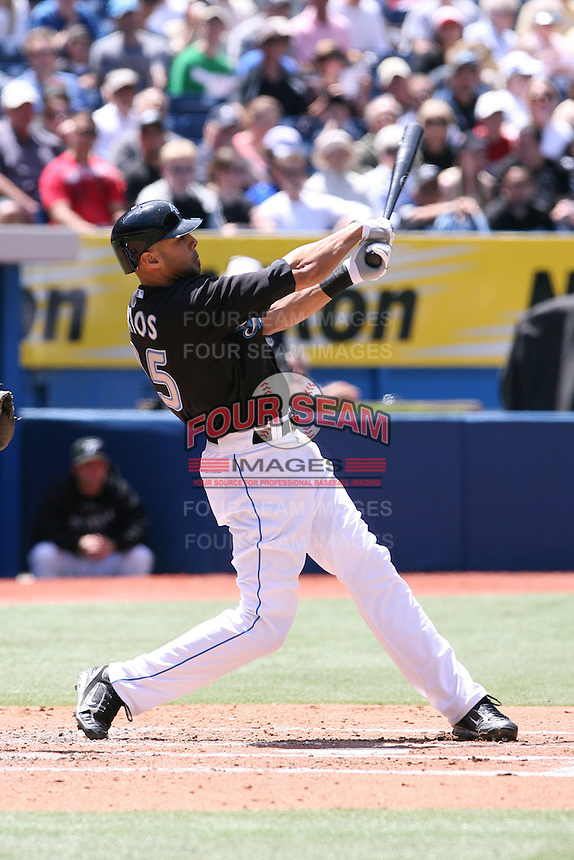 May 25th 2008:  Center fielder Alex Rios (15) of the Toronto Blue Jays during a game at the Rogers Centre in Toronto, Ontario, Canada .  Photo by:  Mike Janes/Four Seam Images